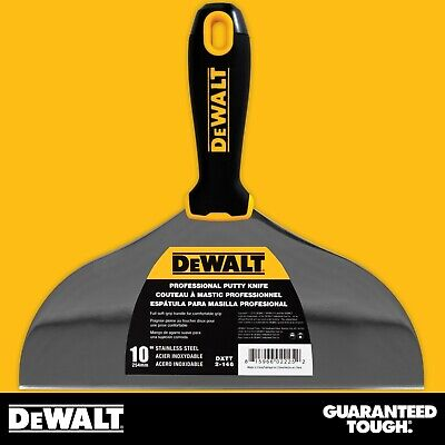 Dewalt Putty Knife 10 Stainless Steel Flexible Drywall Joint Paint Scraper