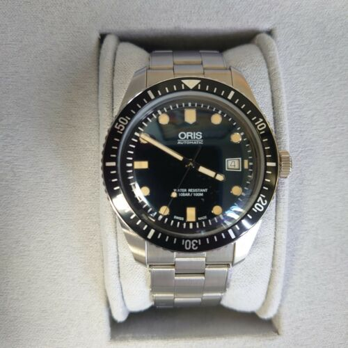 Used Oris Heritage Diver 65 Divers Sixty Five automatic dive watch w/ box&papers - watch picture 1
