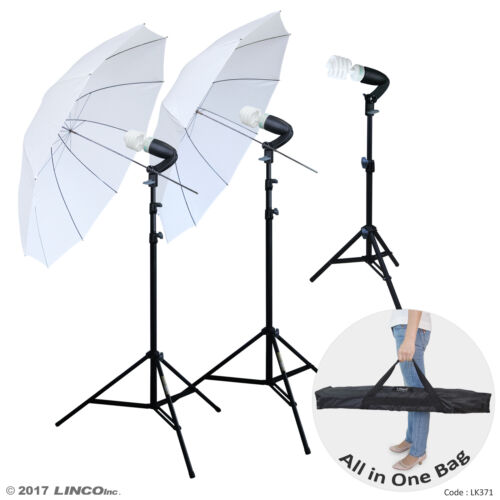 LINCO Lincostore Photography Studio Lighting Kit Photo Umbrella Bulb Stand LK371