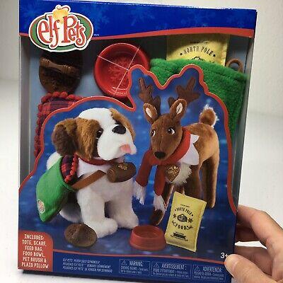 Elf on the Shelf PETS Good Tidings Tote Scarf Set St Bernard Reindeer Free Ship