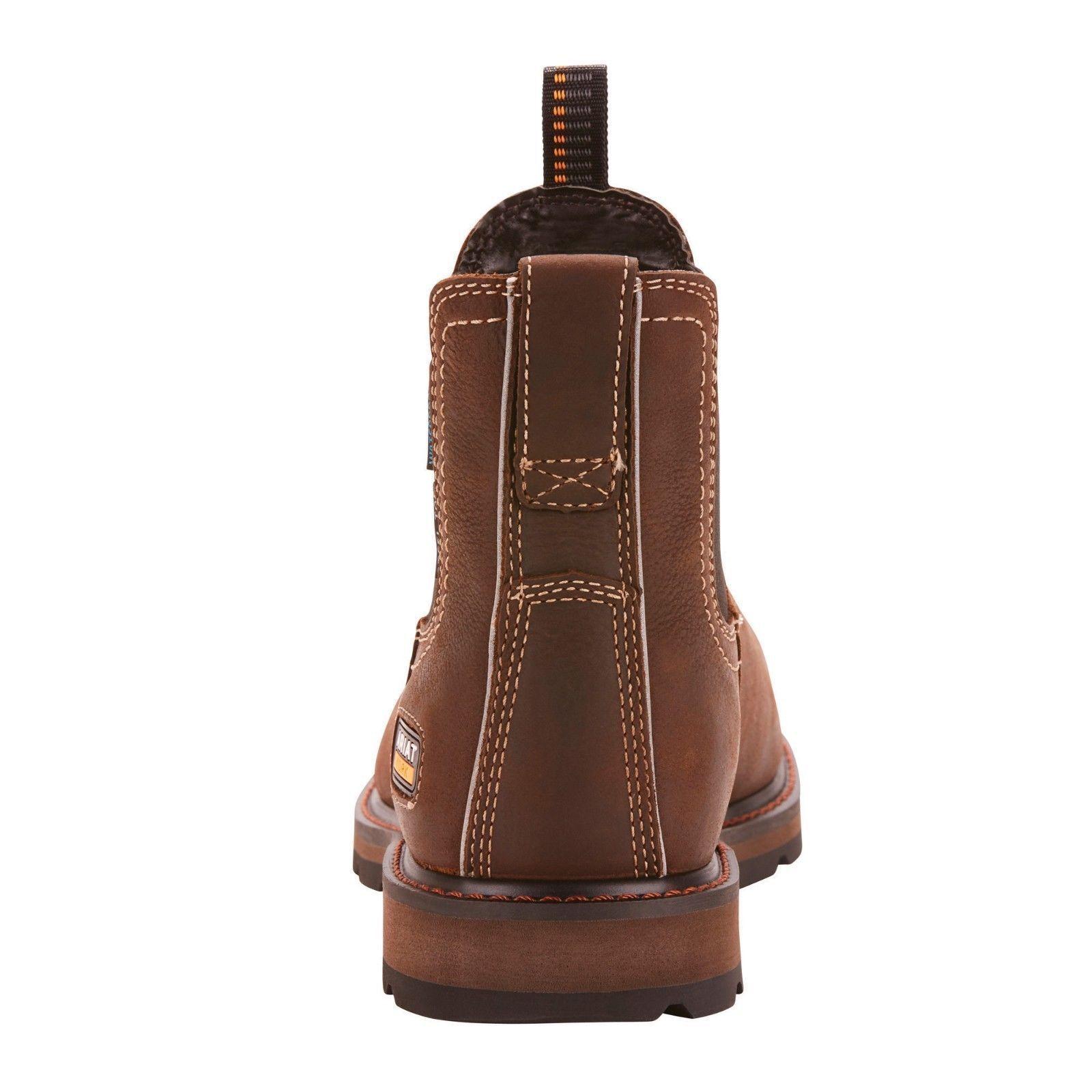 Ariat® Men's Groundbreaker Chelsea H20 Steel Toe Brown Boots 10024983 1