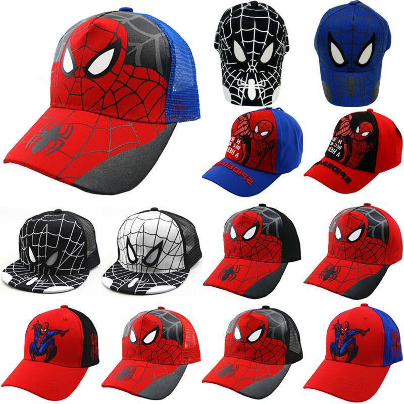 Kinder Jungen Spiderman Baseball Cap Kappe Snapback Sommer Sonnenhute Mütze