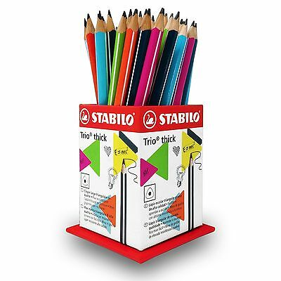 Stabilo Trio Thick - 2B Easy Grip Graphite Pencils - Assorted Class Pack of 48