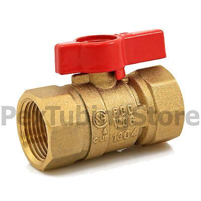 34 Ips Brass Gas Ball Valve - Natural Gas Or Propane Csa Shut-off Valves