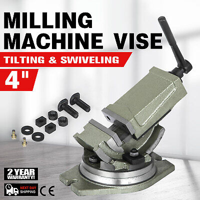 4 Cross Drill Press Vise Slide Metal Milling 2 Way Clamp Vice Woodworking Tools