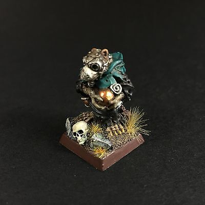 Warhammer Age of Sigmar Skaven Warlock Engineer Brass Orb Metal OOP