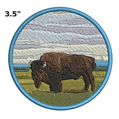 Buffalo Patch (Buffalo Embroidered Patch Iron-On Souvenir Travel Explore Natures National Parks)