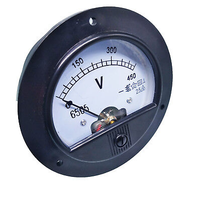 Us Stock Dc 0 450v Round Analog Volt Pointer Needle Panel Meter Voltmeter