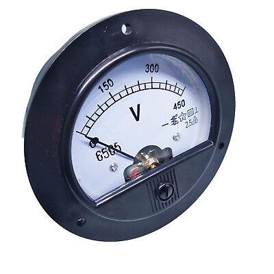 Us Stock Dc 0 450v Round Analog Volt Pointer Needle Panel Meter Voltmeter