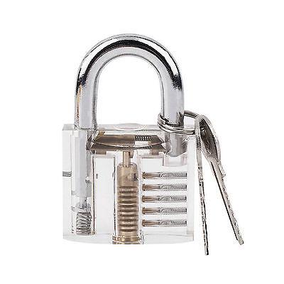 Mini Pick Cutaway Visable Padlock Lock For Locksmith Practice Training Skill Kit