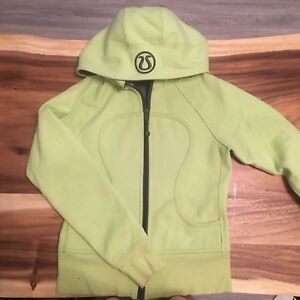Lime-green Lululemon Scuba Sweater