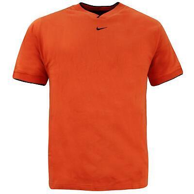 Nike Mens V Neck Training T-Shirt Casual Sports Top Orange 121906 870 S