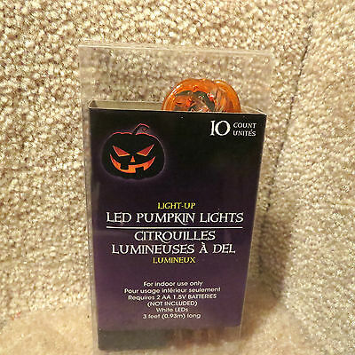 LED Pumpkin Lights - 10 Count - Indoor Use only