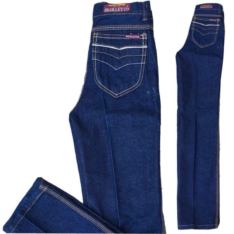 """Vintage Rigolletto Jeans High Waist 70s 80s Kids 14 23 1/2"""" Waist"""