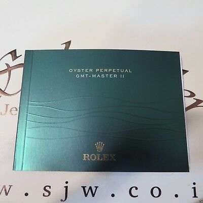 Rolex oyster perpetual GMT - Master II manual green booklet   papers watch