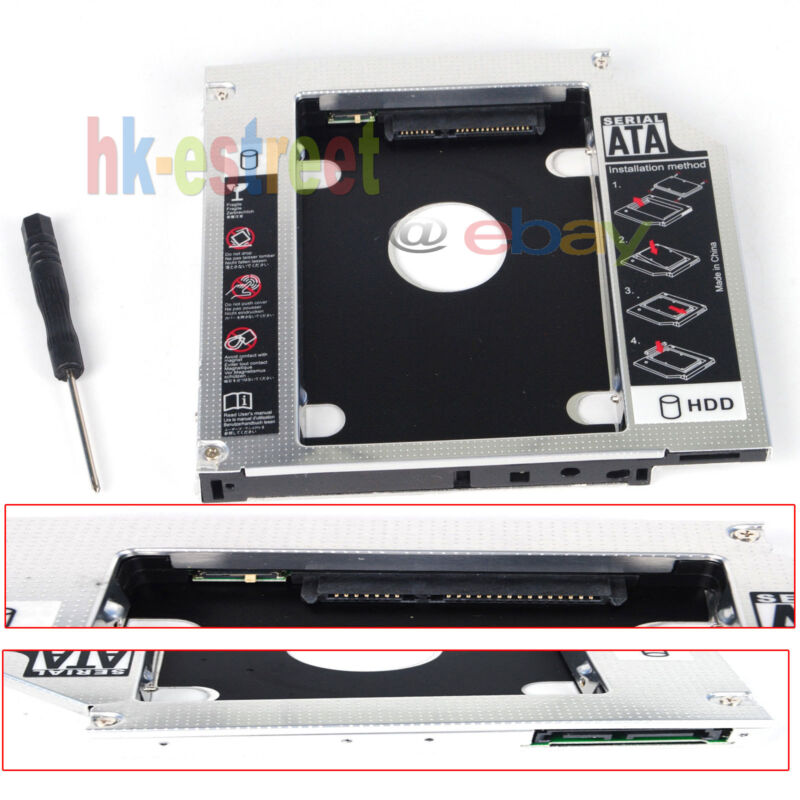 New 2nd Hard Drive HDD SSD Caddy for HP EliteBook 8440w 8530w 8540w 8730w 8740w