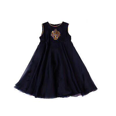 RRP €285 LA STUPENDERIA Silk Tutu Dress Size 8Y Shiny Patch Made in Italy