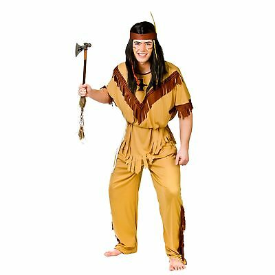 Native Indian Budget Brave History Halloween Adults Mens Fancy Dres Costume - Budget Halloween Costume