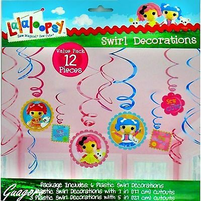 Lalaloopsy Dangling Swirl Decorations 12 Piece Birthday Party Supplies Favors](Lalaloopsy Party Supplies)