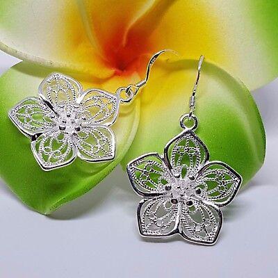 Silver Plated 925 Earrings,Wedding Women Jewellery,Xmas Gift Ideas,Secret Santa - Christmas Jewelry Ideas