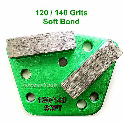 Trapezoid Htc Style Grinding Shoe Disc Plate - Soft Bond - 120140 Grit