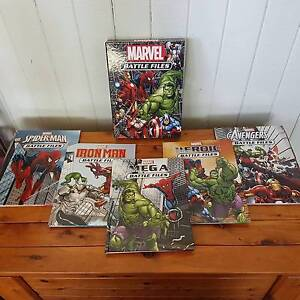 Marvel Battle Files complete set of 5 Windsor Brisbane North East Preview