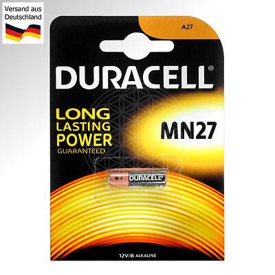 2 DURACELL MN27 12 Volt Alkaline Batterie L828 A27S 27A A27 LR27 LR27A V DC Pile Volt-alkaline-batterie
