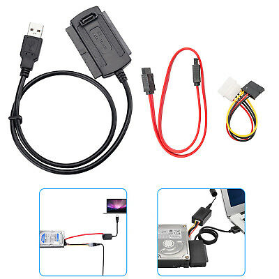 """SATA/PATA/IDE Drive to USB 2.0 Adapter Converter Cable for 2.5""""/3.5"""" Hard Drive"""