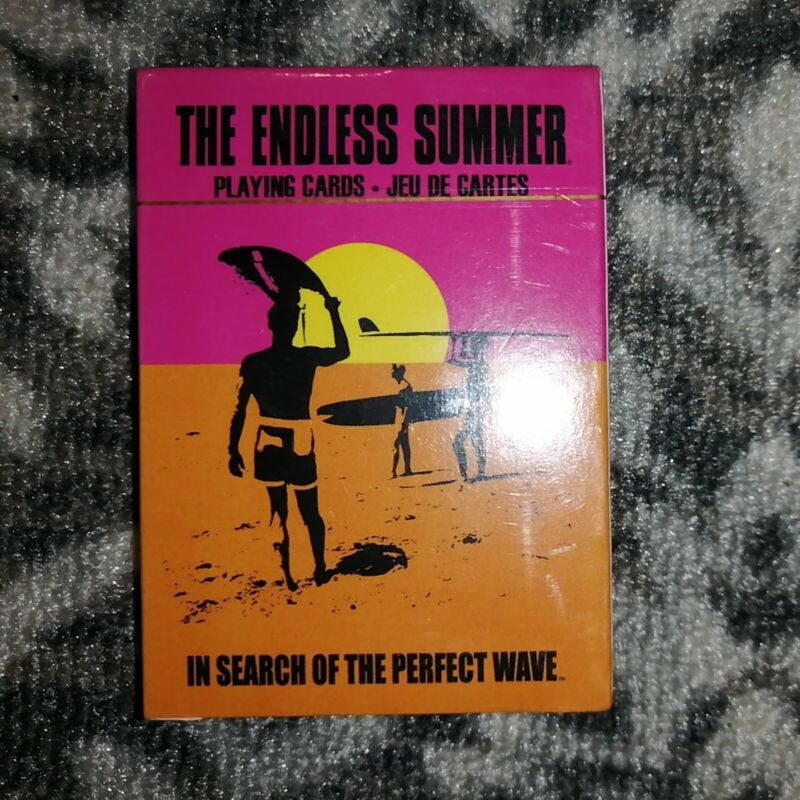 Endless Summer Classic Surfing Movie Photo Illustrated Playing Cards New Sealed