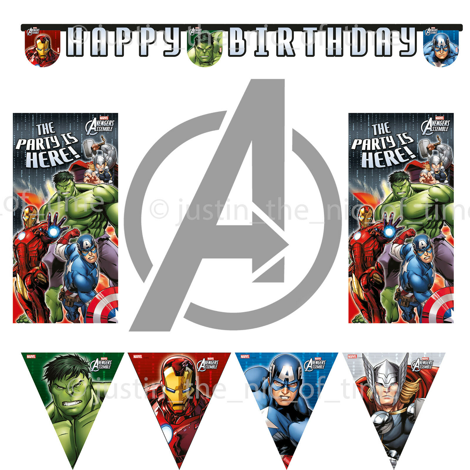 AVENGERS ASSEMBLE Birthday Party Supplies Decorations