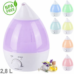 2,8 L Aroma-Licht-Diffuser Ultraschall-Luftbefeuchter, 7 LED Farben, Humidifier