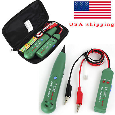 Telephone Phone Network Cable Wire Line Rj Tracker Toner Tracer Tester With Bag
