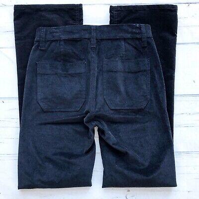 J. Crew Womens Size 28 Tall Billie Demi Boot crop ankle Black Velvet Pants