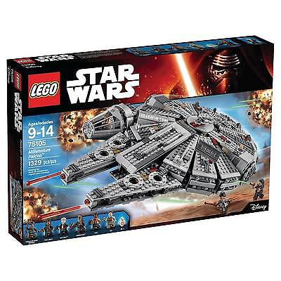 LEGO Star Wars Millennium Falcon 75105 1,329 pcs New In Box FAST FREE SHIPPING