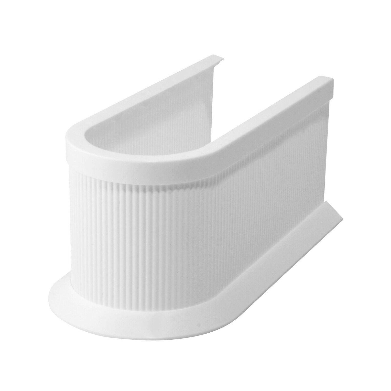FACKELMANN Siphonabdeckung, Rohrverkleidung für Waschbeckenunterschränke, weiß