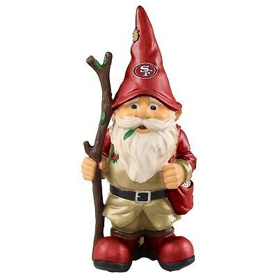 San Francisco 49ers Holding Stick Decorative Garden Gnome 10