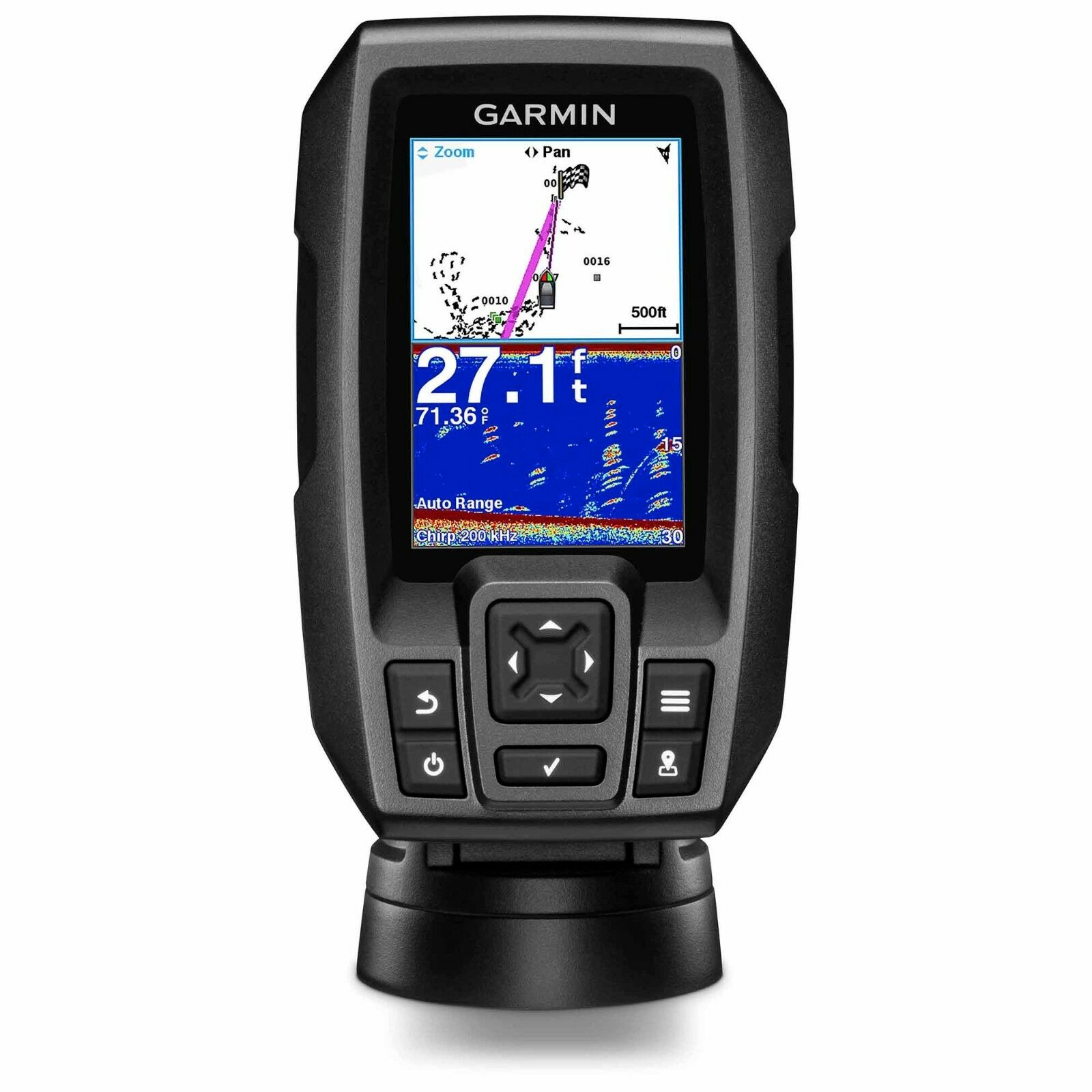 Garmin STRIKER 4 Fishfinder with 4-Pin 77/200kHz TM Transducer 010-01550-00