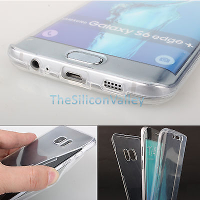 Crystal Clear Cover Full Body Protective Case For Samsung Galaxy S6 Edge Plus