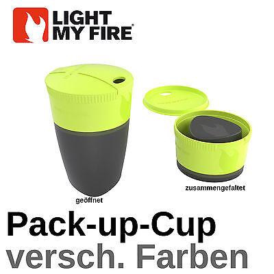-up-Cup Pac up Cup Becher Faltbecher Tasse Falttasse Outdoor (Light Up Becher)