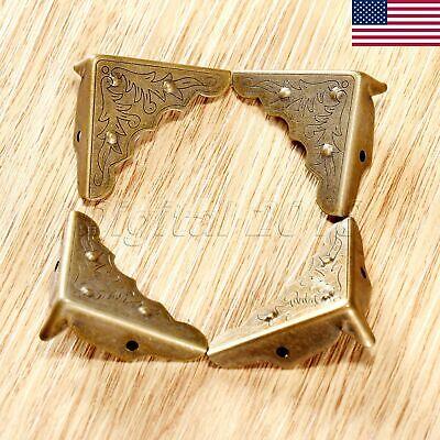 Decorative Boxes Wholesale (US 4pcs Antique Brass Jewelry Box Case Chest Corner Protector Guard)