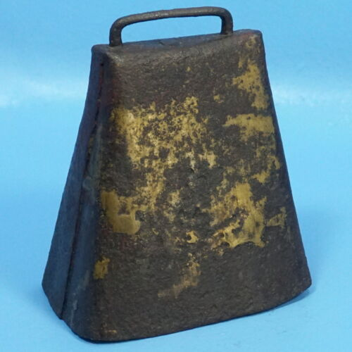 "6"" Antique Iron COW BELL Farm Animal Chalet Decor"