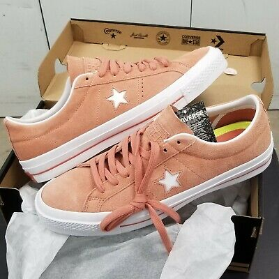 Converse One Star Ox Suede Pink Blush White  Converse One Star Suede