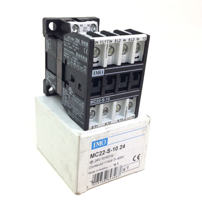 Contactor MC10N-S-10  24DC 4kW~400V IMO
