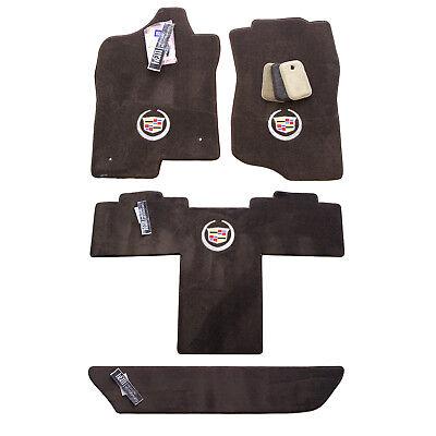 NEW 2007-2014 Cadillac Escalade ESV Cocoa Brown Floor Mats Set 3 Logos In Stock