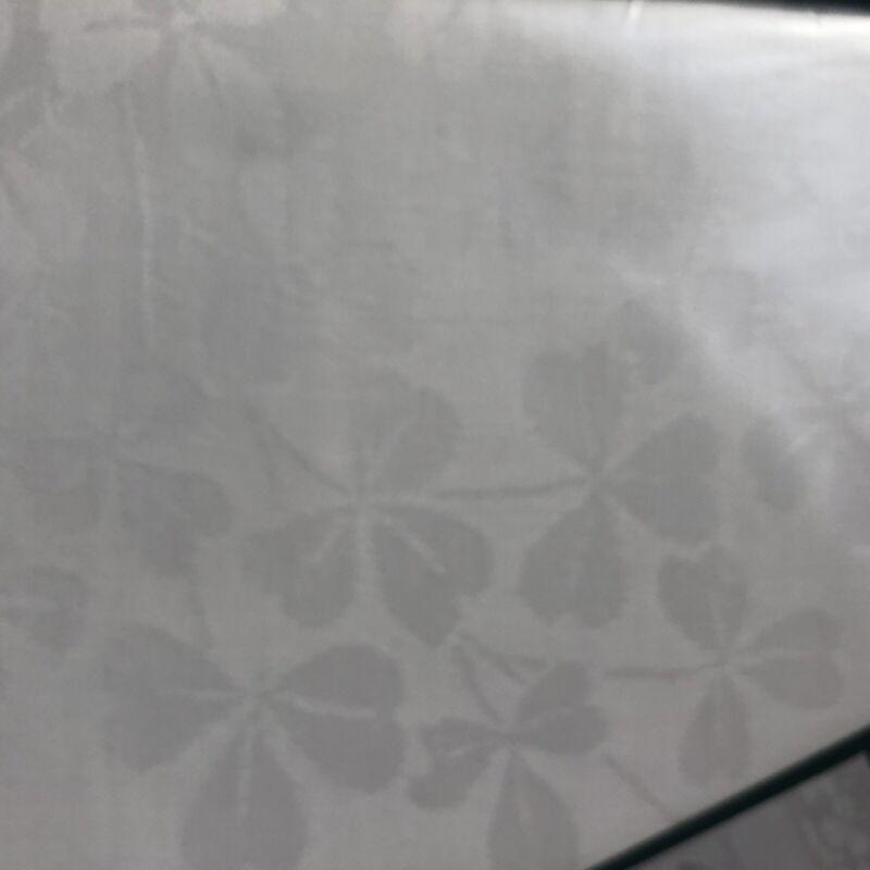 Irish linen shamrock Damask tablecloth made in Ireland 72 x 108