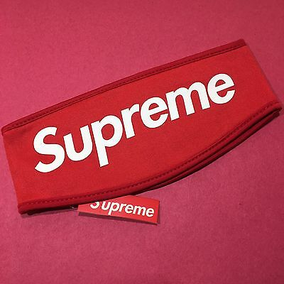 Supreme Headband RED 2013 FW Fleece Lined Classic BOX LOGO Dead Stock Hypebeast