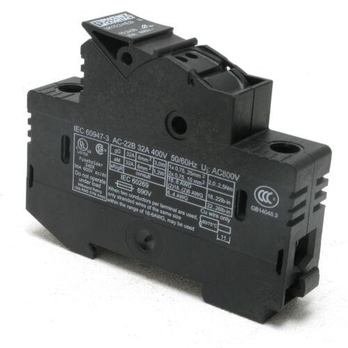 Phoenix Contact UK10,3-HESI N Fuse Holder, 690V 32 Amp, DIN mount