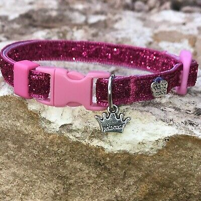 handmade Breakaway Cat Collar SPARKLING EDITION (for male and (Sparkling Cat)