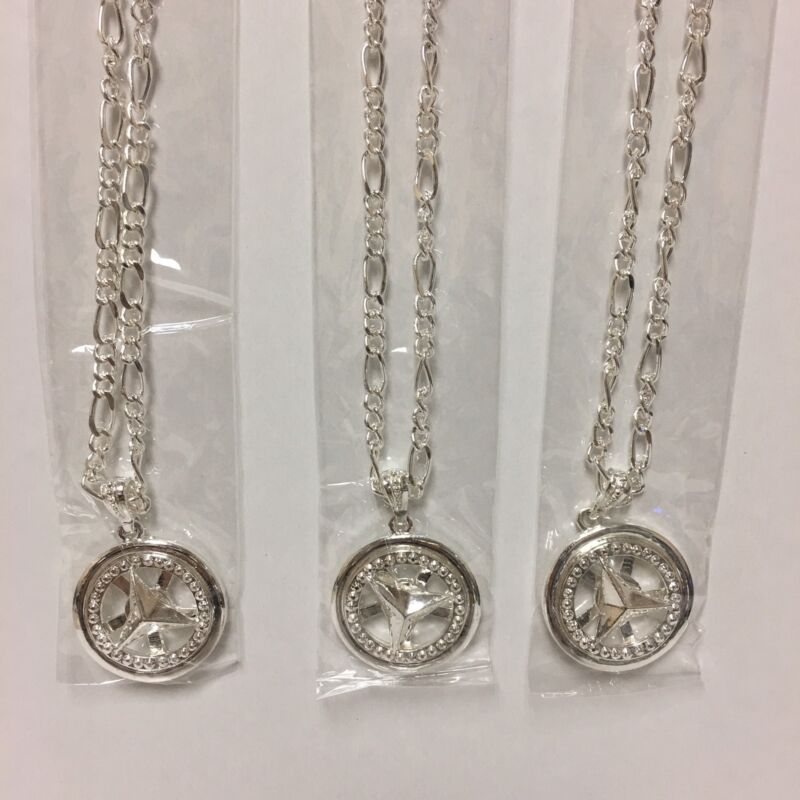 SILVER SPINNING CAR RIM NECKLACES