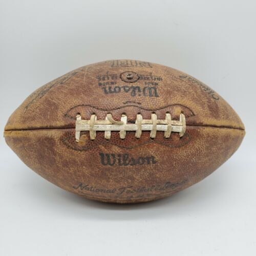 Wilson Vintage Leather Football Official NFL Pete Roselle Flaws